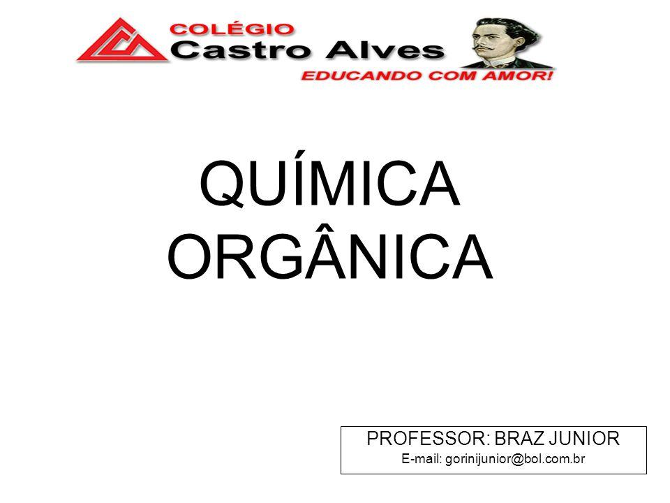 QUÍMICA ORGÂNICA PROFESSOR: BRAZ JUNIOR E-mail: gorinijunior@bol.com.br