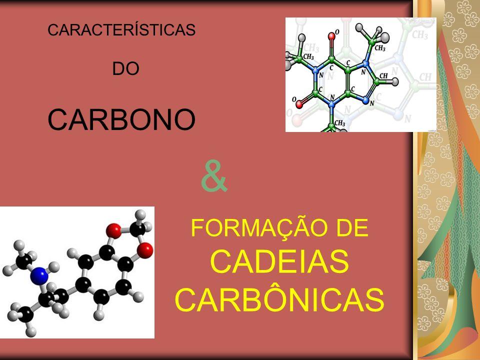 Os átomos de carbono possuem a capacidade de se agrupar formando estruturas, essa capacidade é a principal responsável pela existência de milhões de compostos orgânicos.