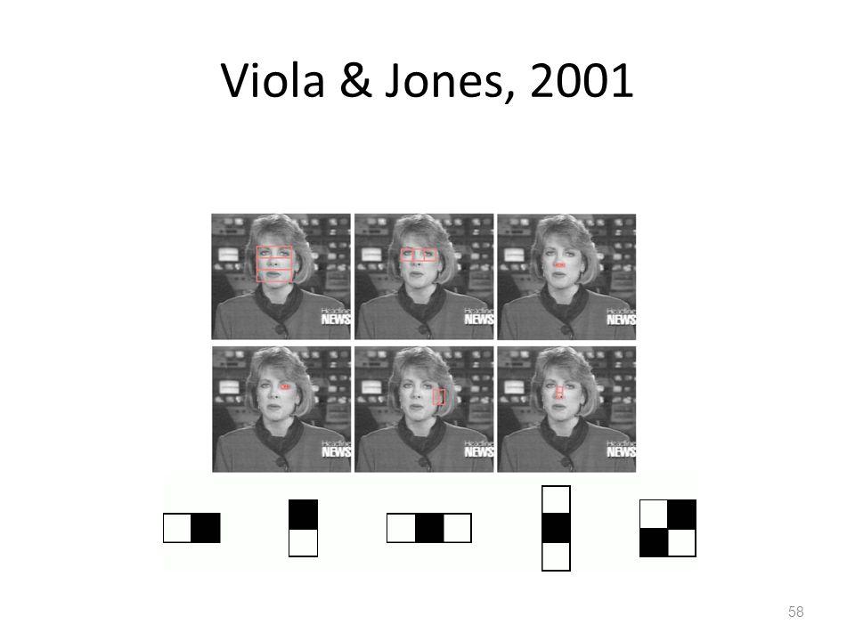 Viola & Jones, 2001 58