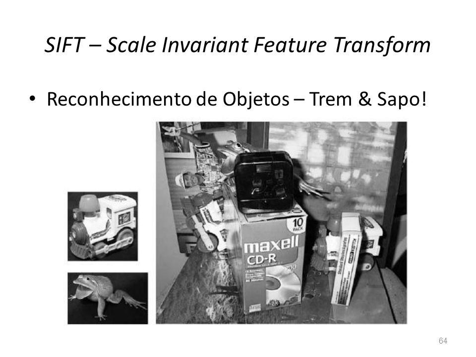 SIFT – Scale Invariant Feature Transform 64 Reconhecimento de Objetos – Trem & Sapo!