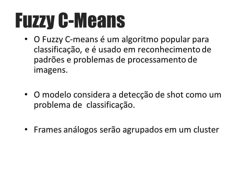 O Fuzzy C-means é um algoritmo popular para classificação, e é usado em reconhecimento de padrões e problemas de processamento de imagens.
