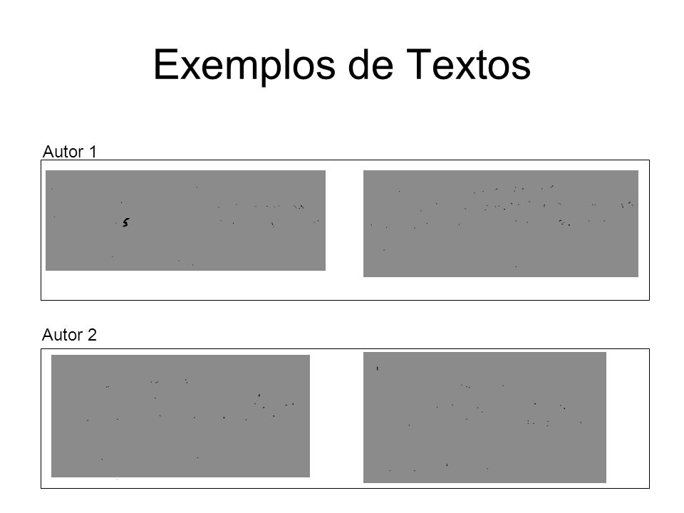 Exemplos de Textos Autor 2 Autor 1