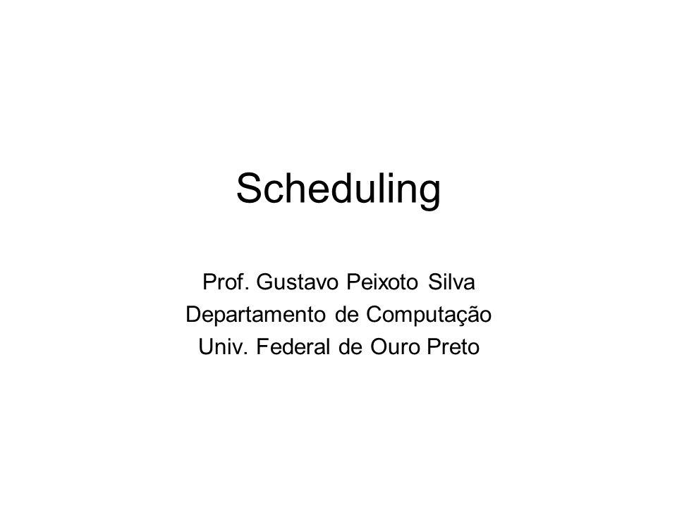Scheduling Prof. Gustavo Peixoto Silva Departamento de Computação Univ. Federal de Ouro Preto