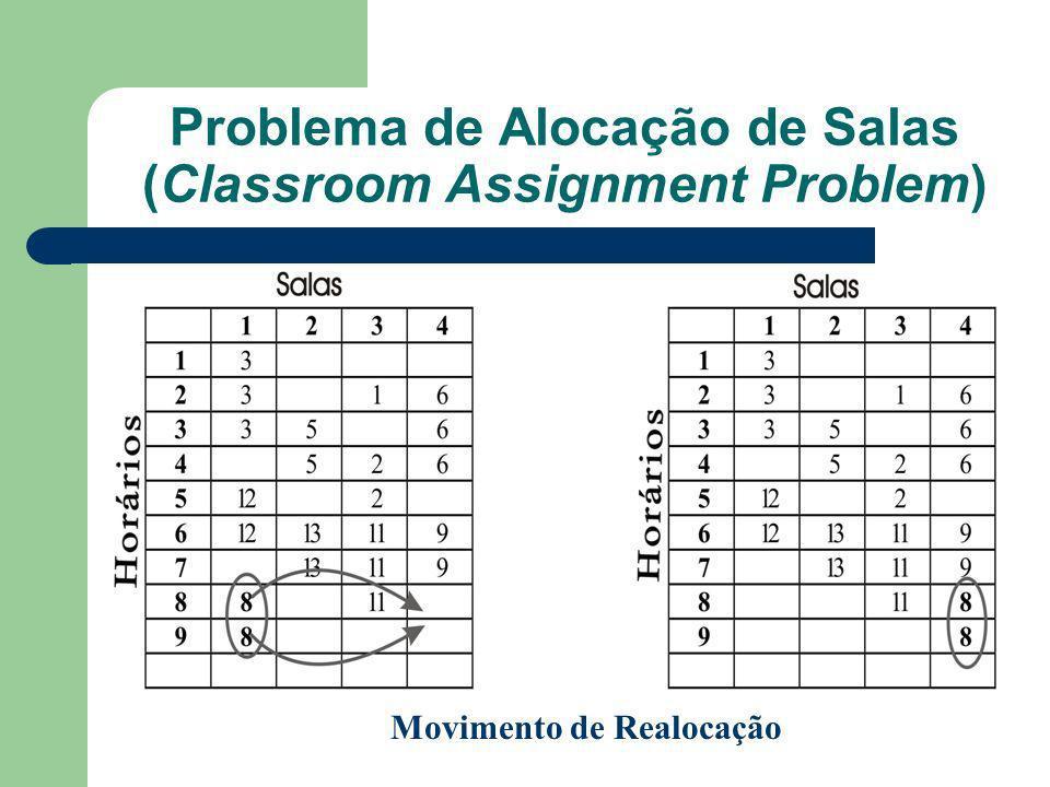 Problema de Alocação de Salas (Classroom Assignment Problem) Movimento de Realocação