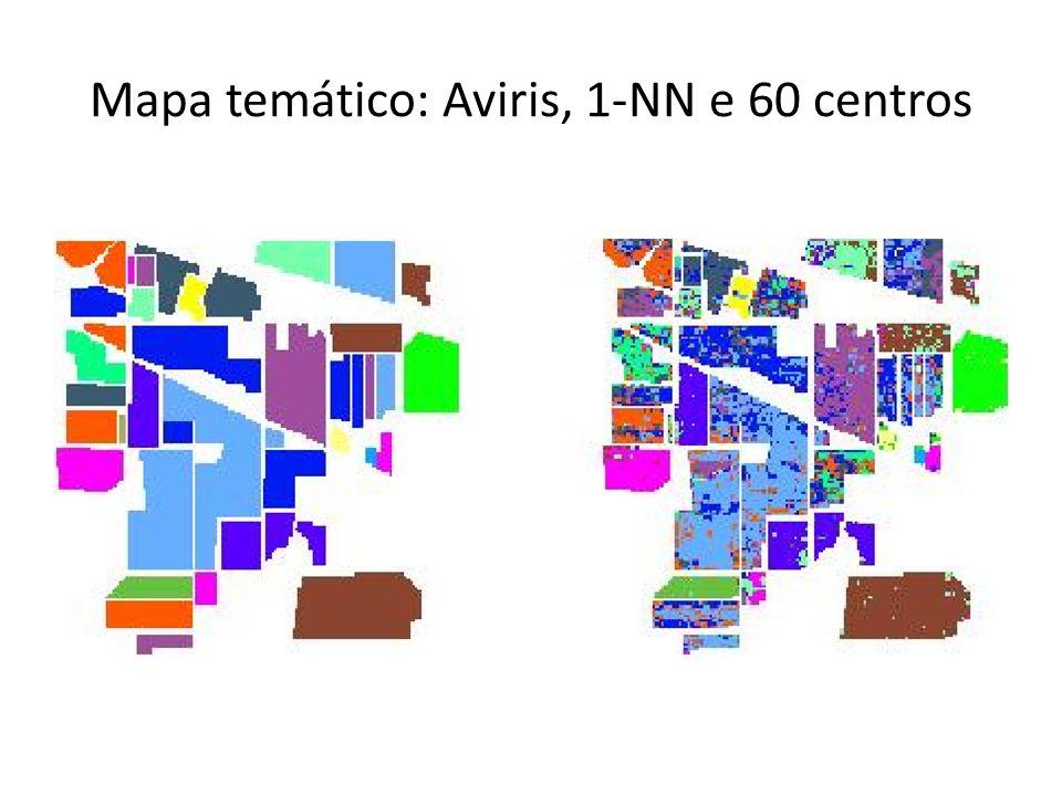 Mapa temático: Aviris, 1-NN e 60 centros