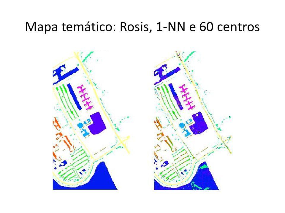 Mapa temático: Rosis, 1-NN e 60 centros