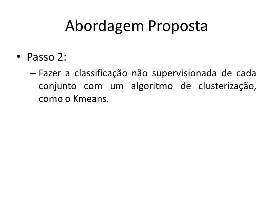 Passo 2: – Fazer a classificação não supervisionada de cada conjunto com um algoritmo de clusterização, como o Kmeans.