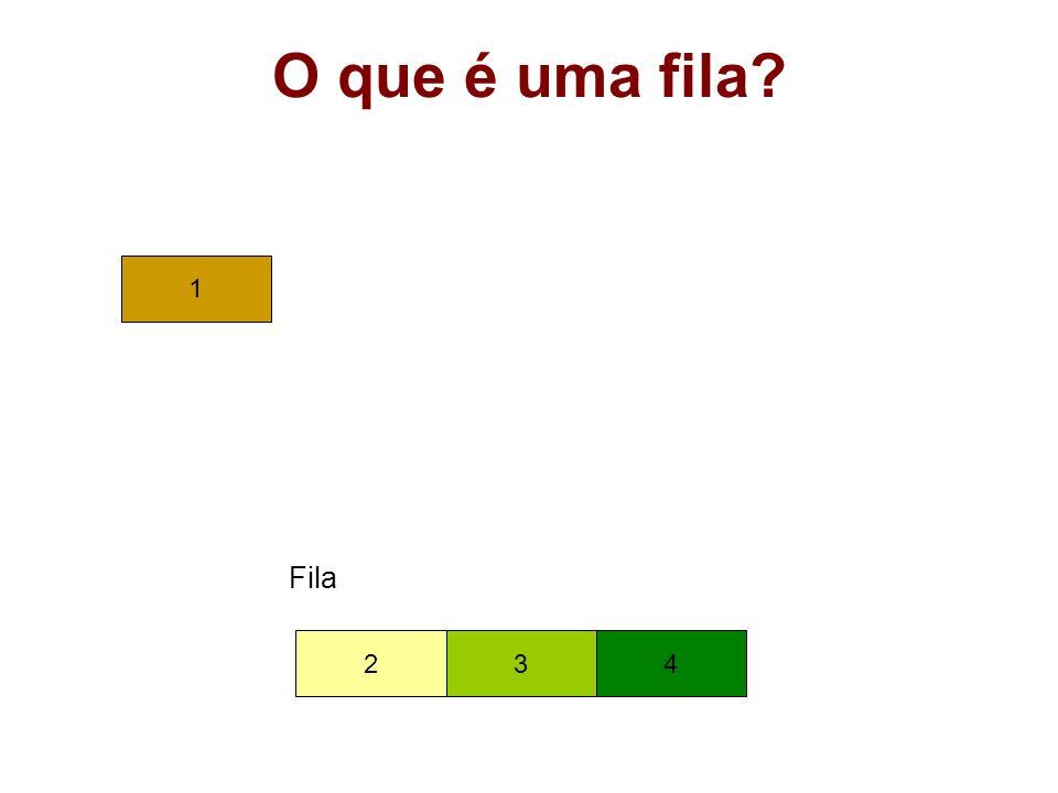 Operações sobre Filas usando Posições Contínuas de Memória int FDesenfileira(TFila* pFila, TItem* pItem) { if (FEhVazia(pFila)) return 0; *pItem = pFila->vItem[pFila->iFrente]; pFila->iFrente = (pFila->iFrente + 1) % (MaxTam+1); /* if (pFila->iFrente == MaxTam) pFila->iFrente = 0; else pFila->iFrente++; */ return 1; } /* FDesenfileira */