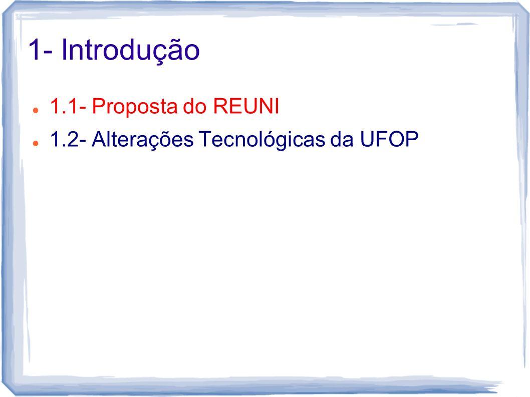 1.1- Proposta do REUNI Expansão da Universidade Consequências Soluções Propostas