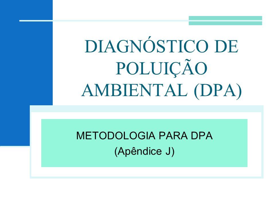 DIAGNÓSTICO DE POLUIÇÃO AMBIENTAL (DPA) METODOLOGIA PARA DPA (Apêndice J)