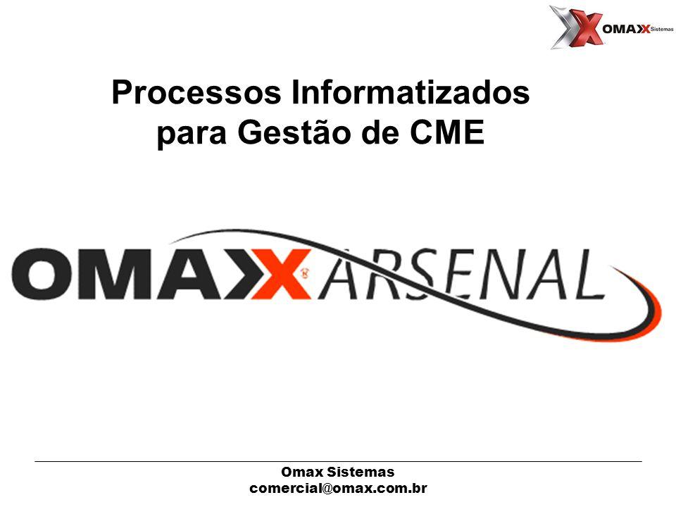 Omax Sistemas comercial@omax.com.br O Software SITUAÇÕES DAS CAIXAS E MATERIAIS HISTÓRICO DOS MOVIMENTOS (MAT./CAIXA) CONTROLE DE NUM.