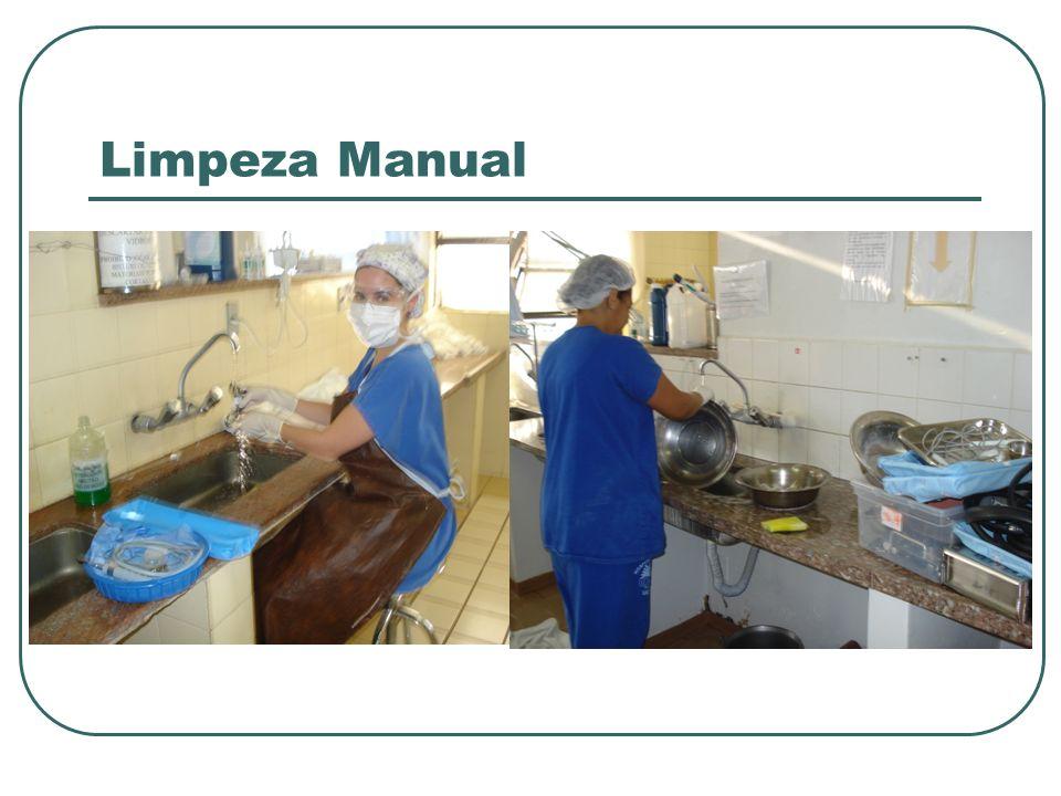 Limpeza Mecânica Lava os artigos por meio de equipamentos que operam em diferentes condições.