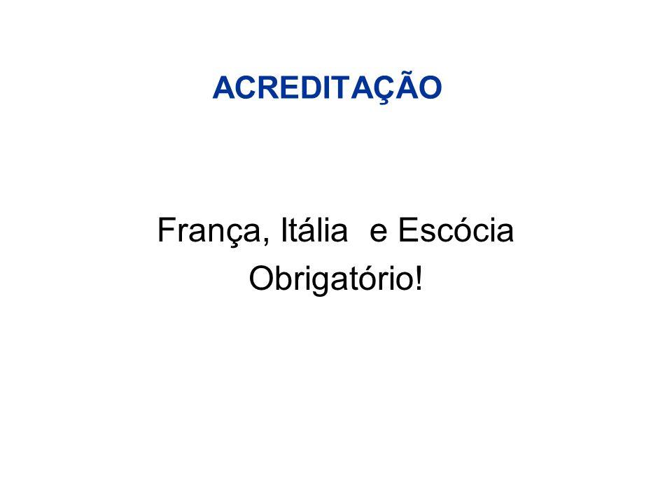 ACREDITAÇÃO França, Itália e Escócia Obrigatório!