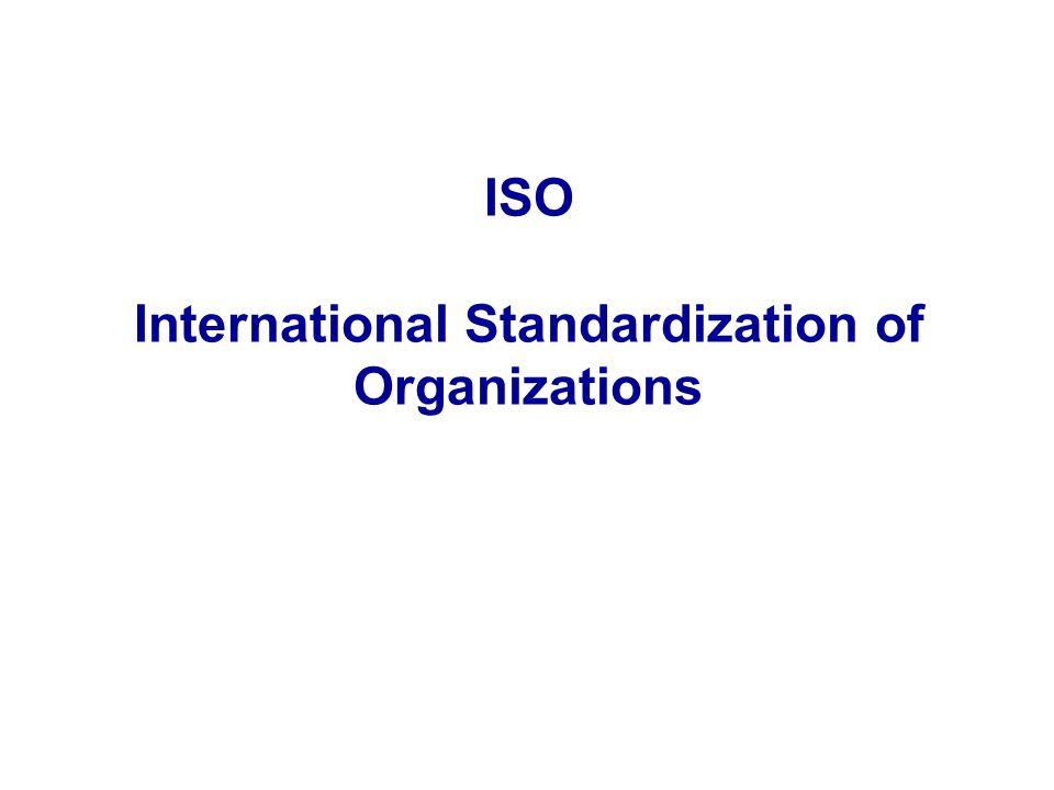 ISO International Standardization of Organizations