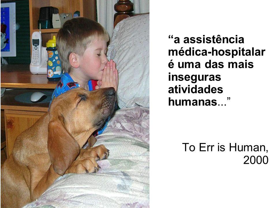 a assistência médica-hospitalar é uma das mais inseguras atividades humanas... To Err is Human, 2000