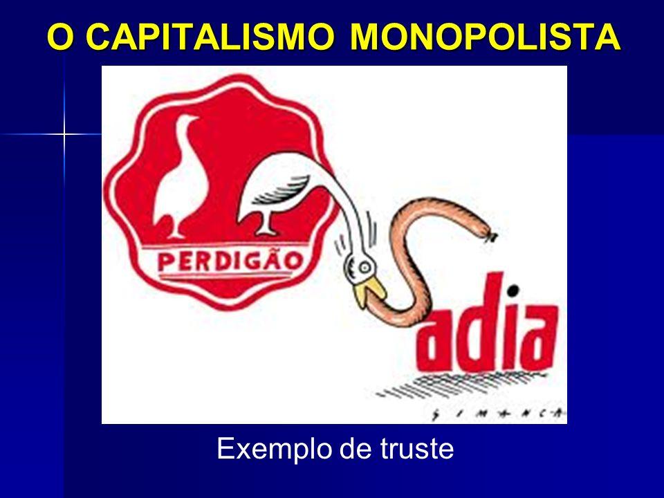 O CAPITALISMO MONOPOLISTA Exemplo de truste