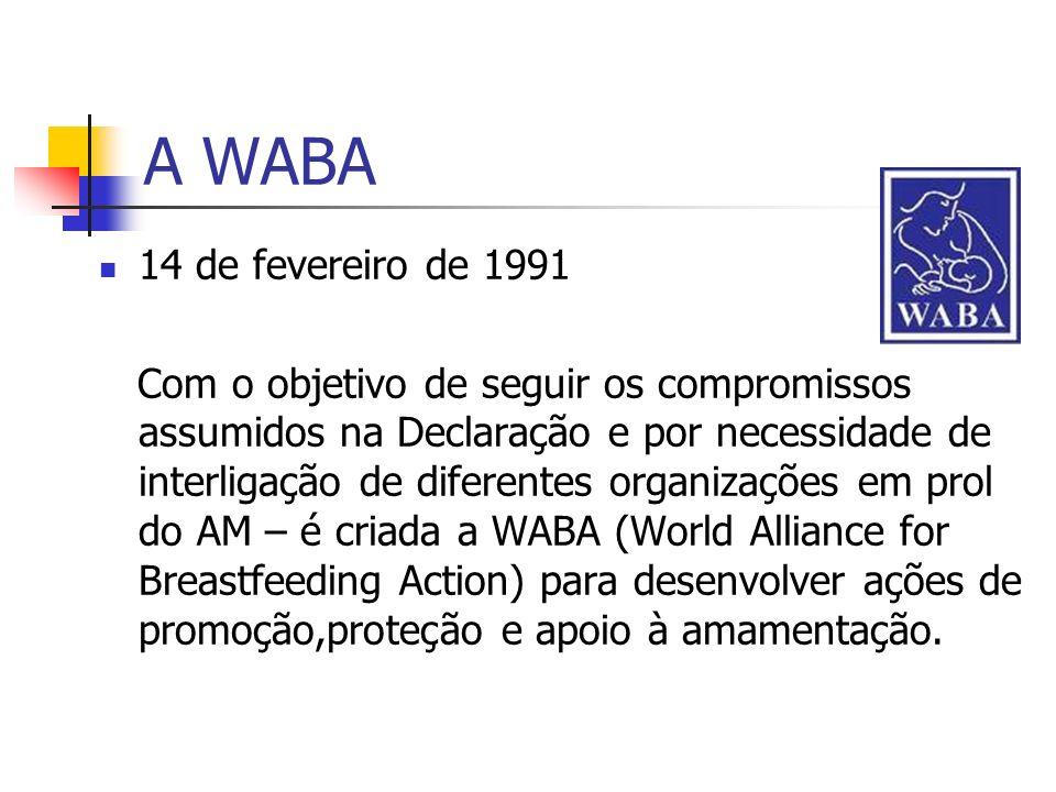 A WABA 14 de fevereiro de 1991 Com o objetivo de seguir os compromissos assumidos na Declaração e por necessidade de interligação de diferentes organi