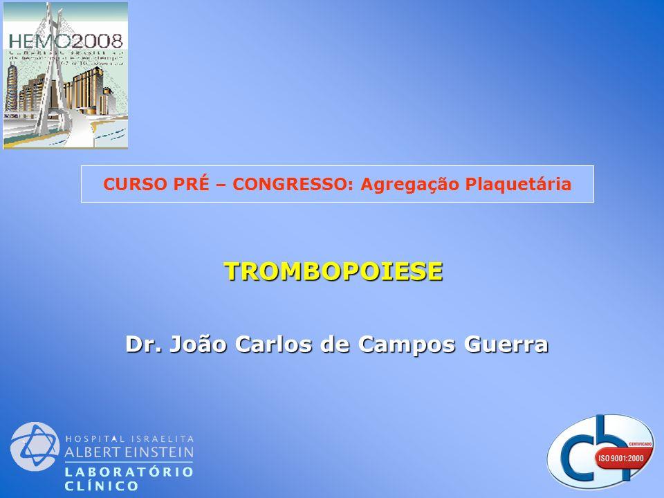 TROMBOPOIESE TROMBOPOIESE Dr. João Carlos de Campos Guerra CURSO PRÉ – CONGRESSO: Agregação Plaquetária