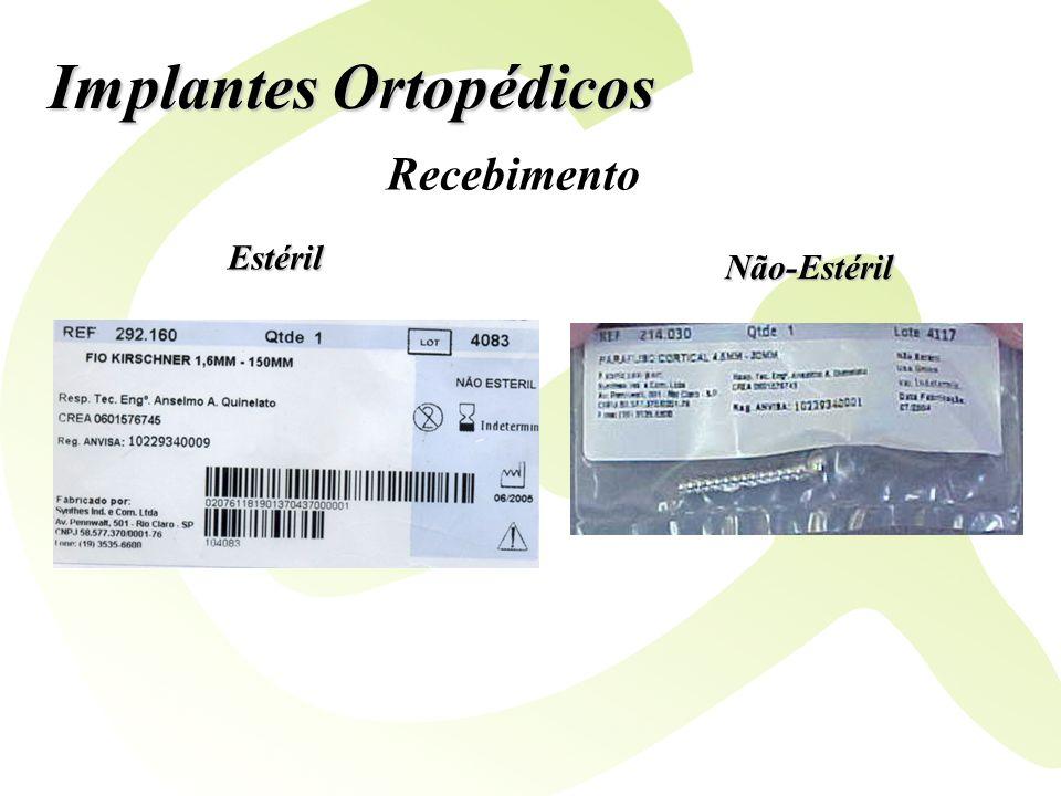 Implantes Ortopédicos Estéril Não-Estéril Recebimento