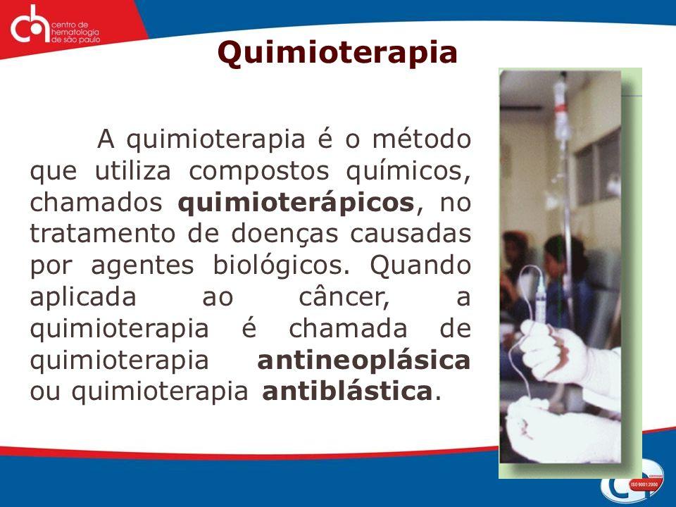 Histórico 1946 - O primeiro quimioterápico antineoplásico foi desenvolvido a partir do gás mostarda, usado nas duas Guerras Mundiais como arma química.