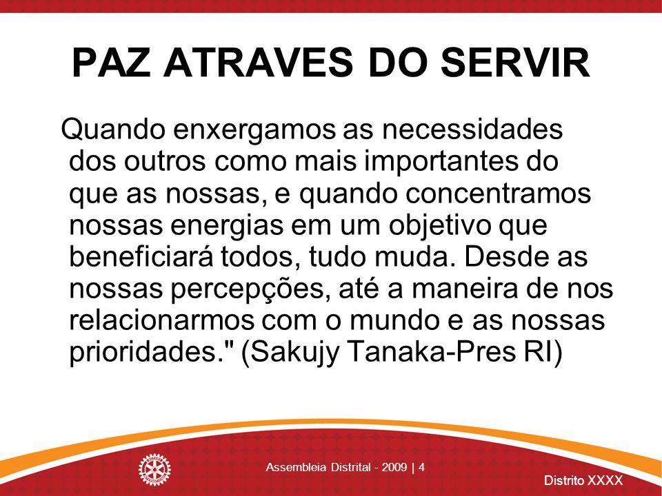 Distrito XXXX Assembleia Distrital - 2009 | 55 Atividades de relações públicas Manter-se atualizada sobre iniciativas para clubes e recursos do RI em www.rotary.org.