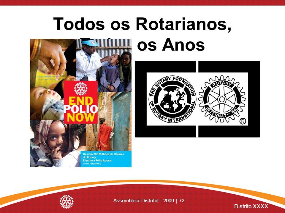 Distrito XXXX Assembleia Distrital - 2009 | 72 Todos os Rotarianos, Todos os Anos
