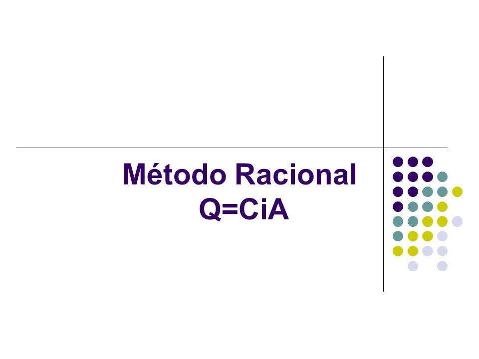 Método Racional O método racional é bastante utilizado e foi apresentado por Mulvaney.