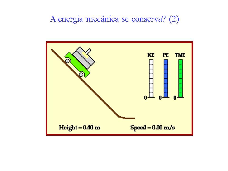 W = trabalho externo Dissipa energia em forma de calor A energia mecânica se conserva? (3)