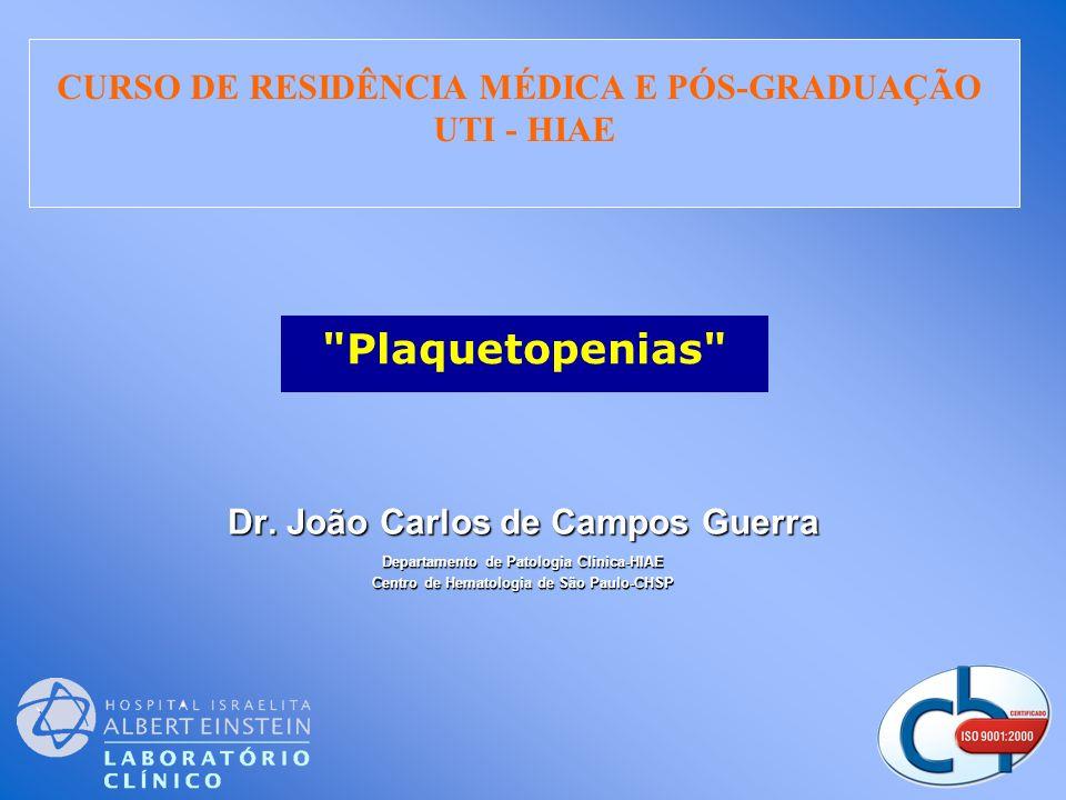 Distribuição por Diagnóstico e Resultado CHSP/HIAE - Jan/97 a Mar/04 Fonte: Centro de Hematologia de São Paulo & Hospital Israelita Albert Einstein Guerra et al.