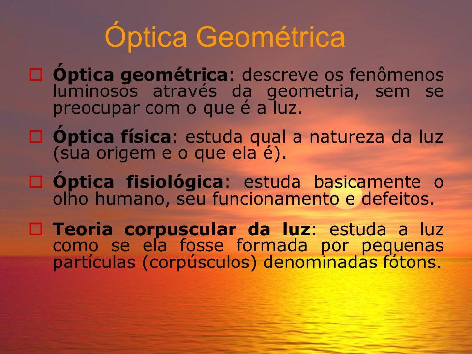 Introdução a Óptica. Professor Antenor