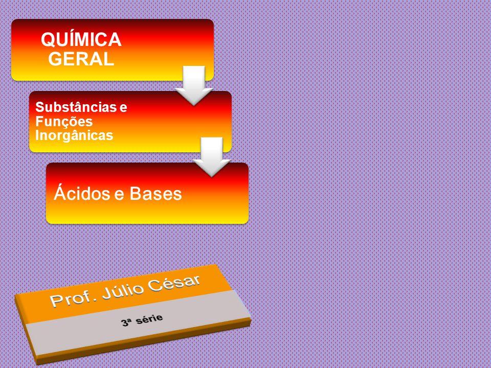 QUÍMICA GERAL Substâncias e Funções Inorgânicas Ácidos e Bases