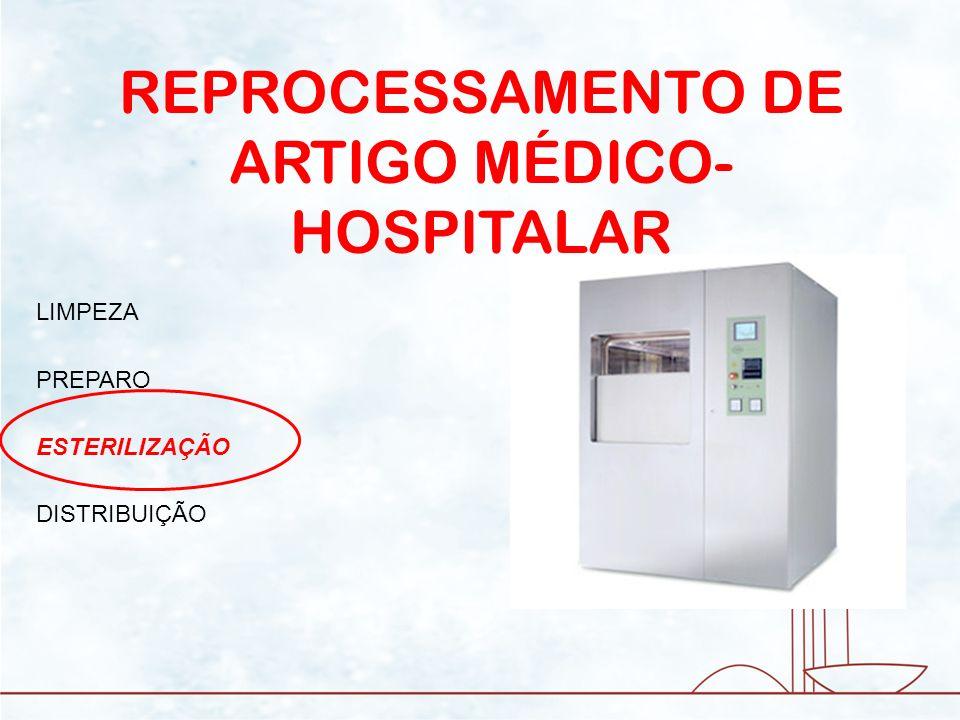 REPROCESSAMENTO DE ARTIGO MÉDICO- HOSPITALAR LIMPEZA PREPARO ESTERILIZAÇÃO DISTRIBUIÇÃO