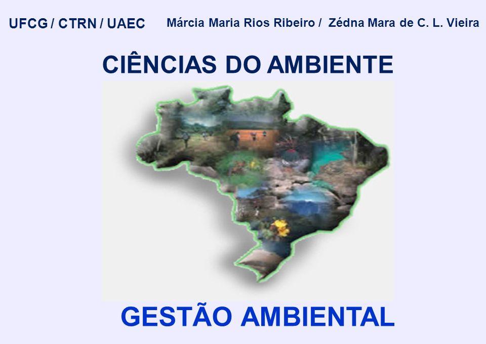 UFCG / CTRN / UAEC Márcia Maria Rios Ribeiro / Zédna Mara de C. L. Vieira CIÊNCIAS DO AMBIENTE GESTÃO AMBIENTAL