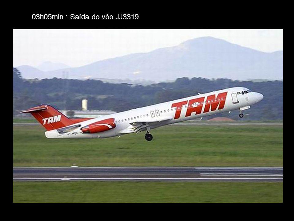 03h05min.: Saída do vôo JJ3319