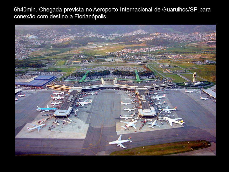 07h45min.: Saída do vôo JJ3415 com destino a Florianópolis / SC