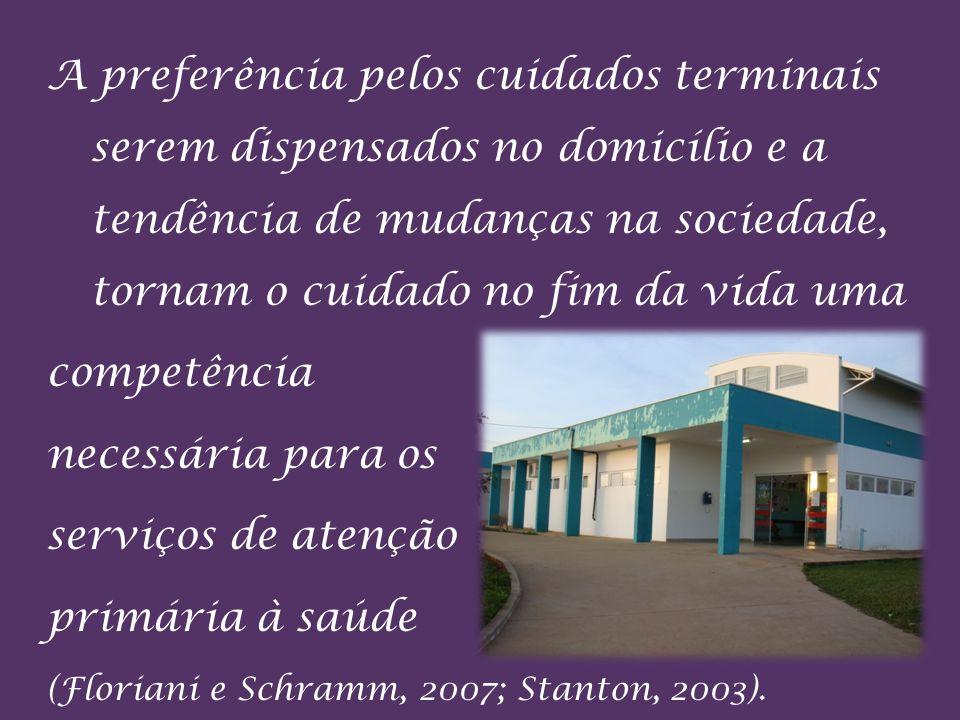 A preferência pelos cuidados terminais serem dispensados no domicílio e a tendência de mudanças na sociedade, tornam o cuidado no fim da vida uma comp