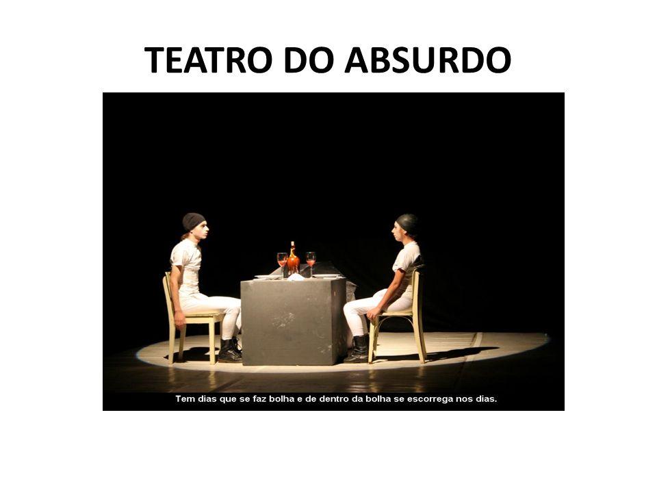 As peças do teatro do absurdo podem ser descritas como surreais também, pois contam histórias que são simplesmente absurdas para a nossa sociedade...