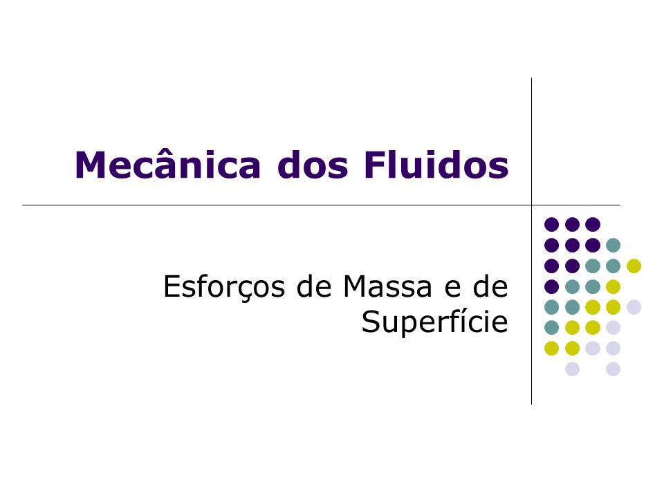 Mecânica dos Fluidos Esforços de Massa e de Superfície