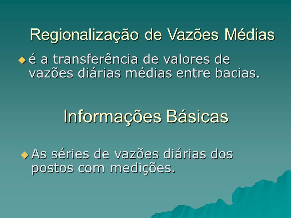 Informações Básicas é a transferência de valores de vazões diárias médias entre bacias.