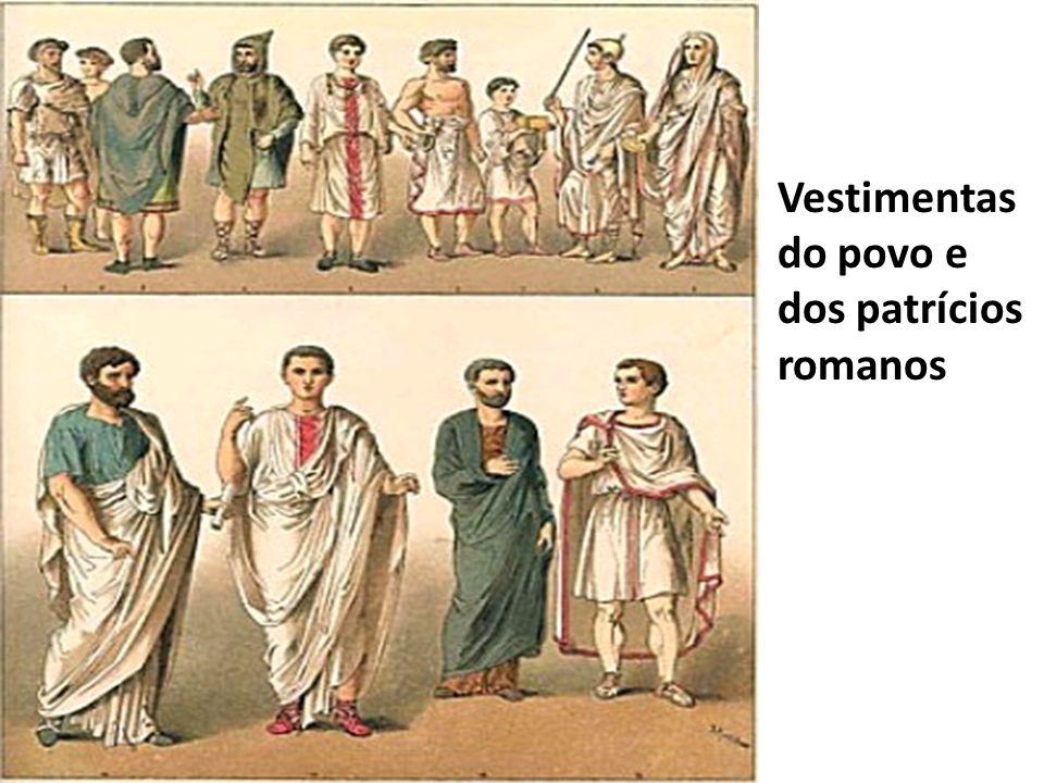 Senador Romano de meia idade - Detalhes da Vestimenta