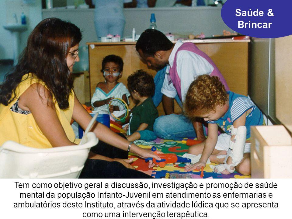 Produção de material teórico/prático sobre o brincar e seu uso com crianças e jovens adoecidos e hospitalizados.