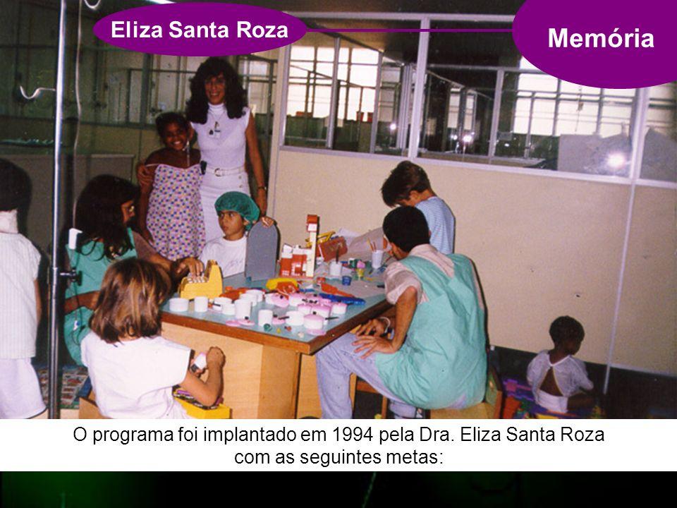 Memória Eliza Santa Roza O programa foi implantado em 1994 pela Dra.