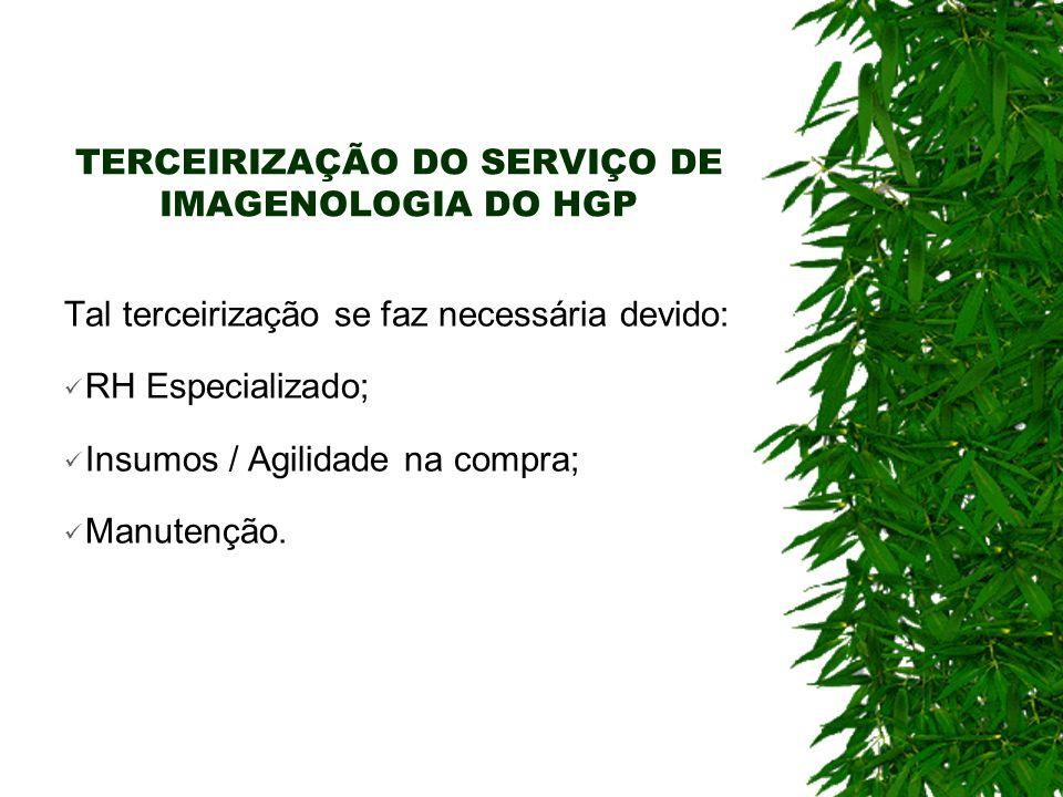 PRESTAÇÃO DOS SERVIÇOS RADIOLOGIA Beneficiários: pacientes internos, da urgência/emergência e ambulatório do Hospital Geral de Palmas.