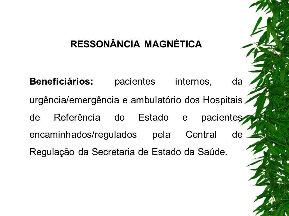 Todos os serviços deverão seguir os protocolos estipulados pela Central de Regulação da Secretaria de Estado da Saúde.