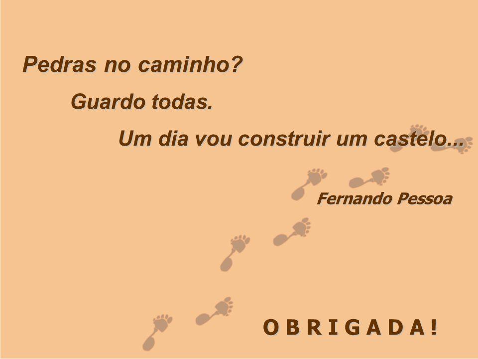 Laudecy Alves do Carmo GOVERNO DO ESTADO DO TOCANTINS SECRETARIA DE ESTADO DA SAÚDE O B R I G A D A ! Fernando Pessoa Pedras no caminho? Guardo todas.