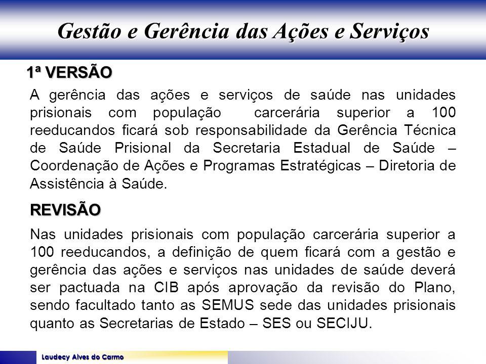 Laudecy Alves do Carmo GOVERNO DO ESTADO DO TOCANTINS SECRETARIA DE ESTADO DA SAÚDE 1ª VERSÃO REVISÃO A gerência das ações e serviços de saúde nas uni