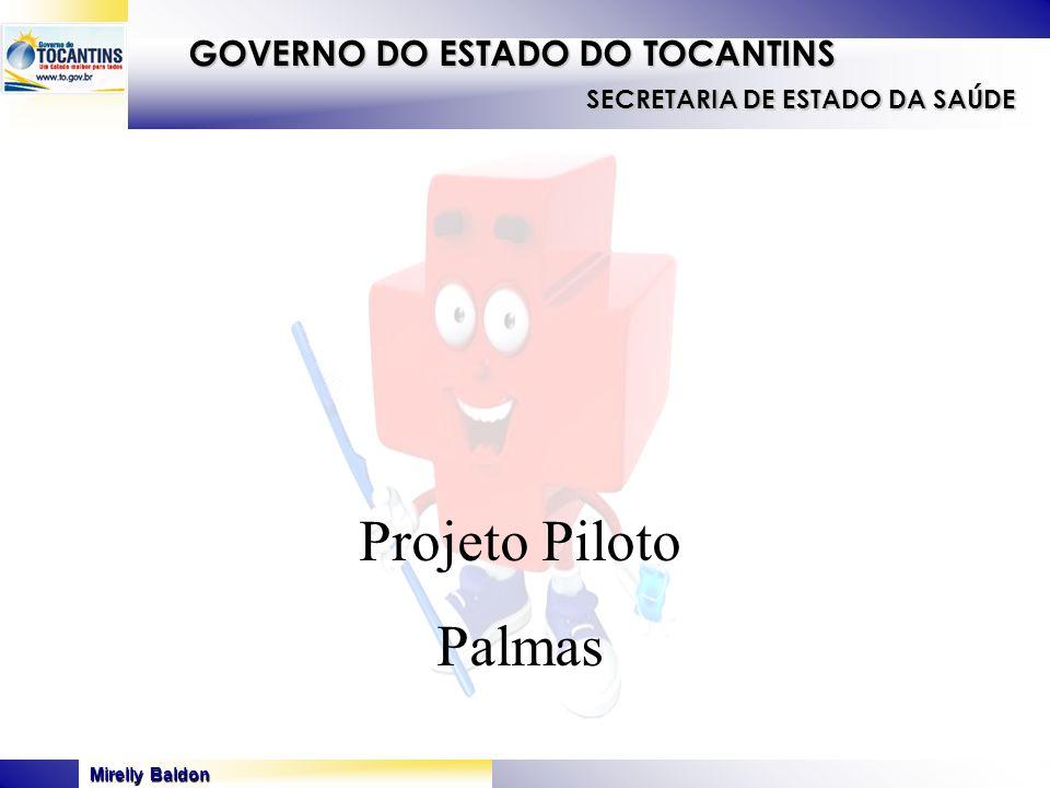 Mirelly Baldon GOVERNO DO ESTADO DO TOCANTINS SECRETARIA DE ESTADO DA SAÚDE Projeto Piloto Palmas