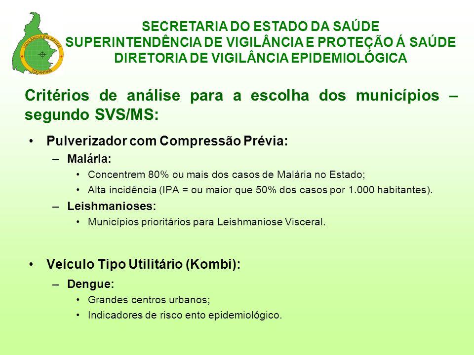 SECRETARIA DO ESTADO DA SAÚDE SUPERINTENDÊNCIA DE VIGILÂNCIA E PROTEÇÃO Á SAÚDE DIRETORIA DE VIGILÂNCIA EPIDEMIOLÓGICA
