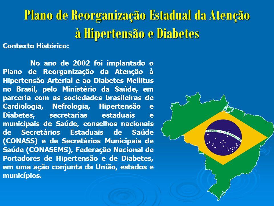 Plano de Reorganização Estadual da Atenção à Hipertensão e Diabetes O que é Plano de Reorganização.