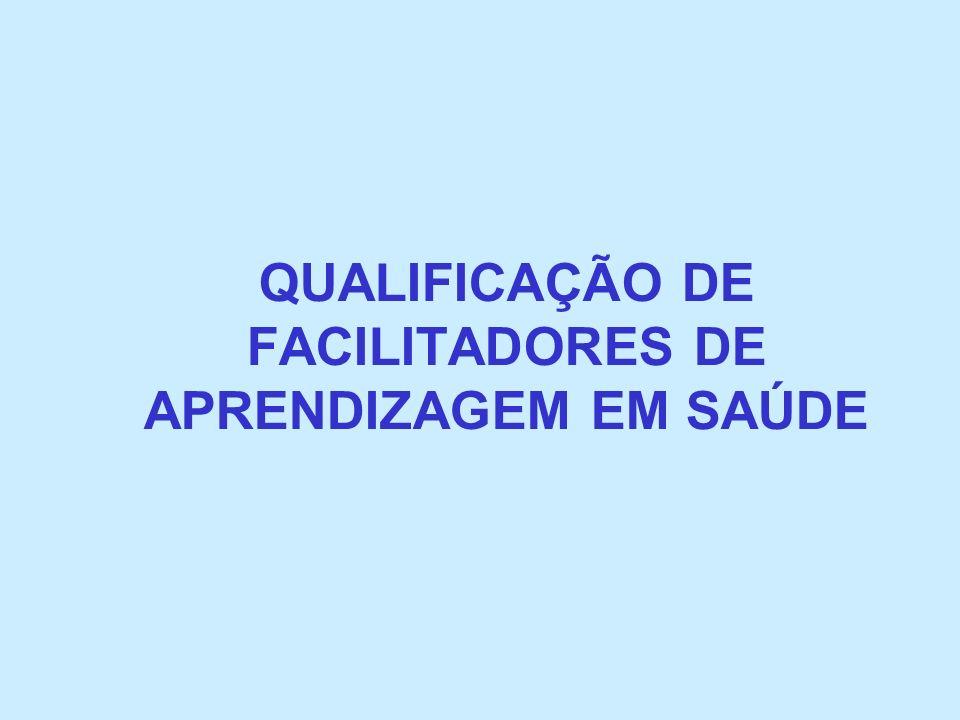 QUALIFICAÇÃO DE FACILITADORES DE APRENDIZAGEM EM SAÚDE